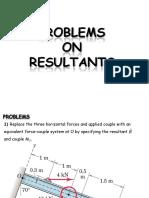 B18 Statics_Resultants - Problems