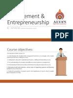 Management & Entrepreneurship