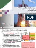 1.1 Principio Cero. Temperatura.