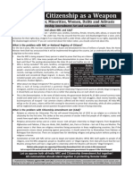 Citizenship Amendment Act and National Register of Citizens