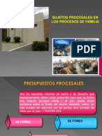 LOS SUJETOS PROCESALES EN EL CÓDIGO DE FAMILIA DE NICARAGUA