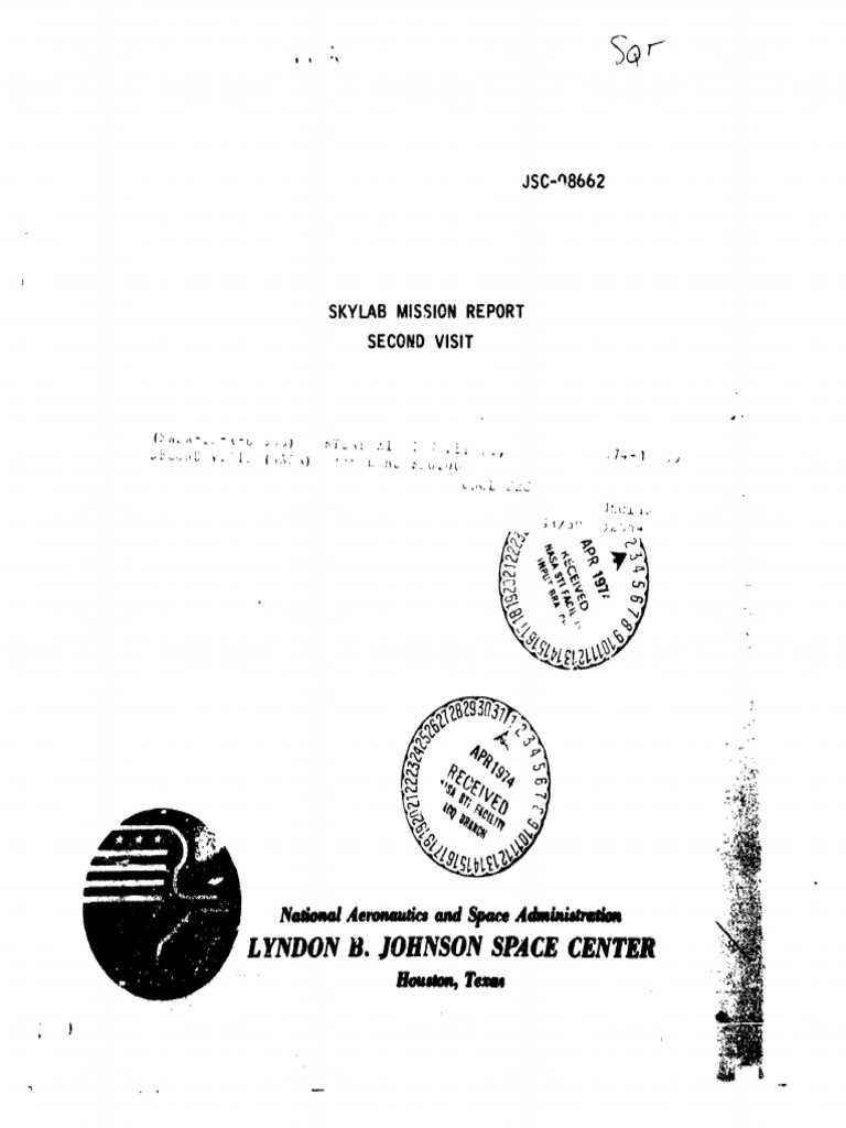 Skylab Mission Report Second Visit Apollo Command 220v 3g Ozone Generator Tube Circuit Board Hour 40w For Service Module