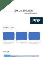 Analgesia y Sedación Pediatría