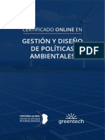Certificado en Gestión y Diseño de Políticas Ambientales