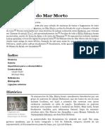 Manuscritos Do Mar Morto – Wikipédia, A Enciclopédia Livre
