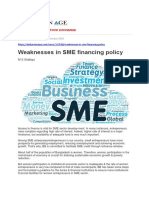 Weaknesses in SME Financing Policy