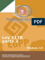 modulo 13 Ley1178Parte2 M13