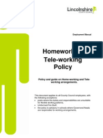 Home Working Policy and Procedure