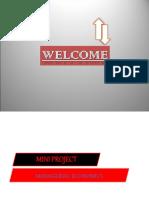 MANAGERIAL ECONOMICS mini project