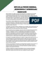CONOCIMIENTO DE LA FUNCION CEREBRAL