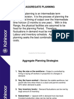 Aggregate Planning & Capacity Planning