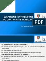 SUSPENSÃO E INTERRUPÇÃO CONTRATUAL