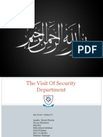 The Visit Of Security Department