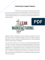 Lean Manufacturing in Apparel Industry