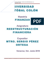 REESTRUCTURACION FINANCIERA