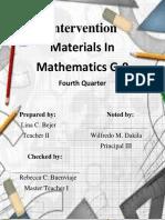 Intervention Materials In Mathematics G