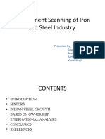 Environment Scanning of Iron and Steel Industry