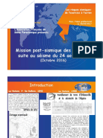 3 - Mission post sismique AFPS Italie 2016 Didier COMBESCURE et al