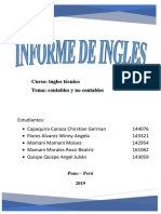 INFORME DE INGLES