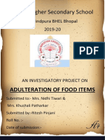 Adulteration of food items