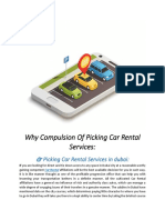 Why Compulsion of Picking Car Rental Services: