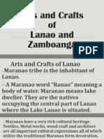 Arts and Crafts of lanao and Zamboanga