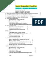 OTIS Elevator Weekly Inspection Checklist Revision 28 December 2019.