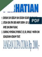 BACALAH DOA SEBELUM DAN SESUDAH KELUAR KAMAR MANDI.docx