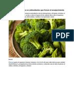 Los 20 alimentos ricos en antioxidantes que frenan el envejecimiento