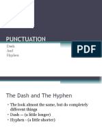 DLP-14 PPT ATTACHMENT PUNCTUATION HYPHEN DASH