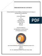 Project report on GLASS FIBER REINFORCED CONCRETE