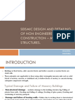 Seismic design and detailing of non engineered construction