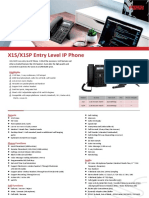 X1S_X1SP Enterprise IP Phone-X1S&X1SP Datasheet