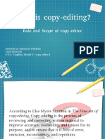 What is Copy editing? Role and scope of a copy editor