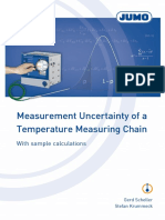 jumo-Measurement uncertainty in a temperature measuring chain