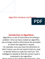 Algorithm Analysis and Design1