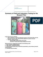 Summary of Field and Lab Testing for Bsf