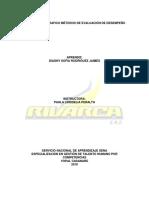 Act 10 Modelos de evaluación de desempeño