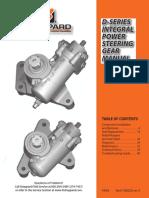 D Series Manual Steering gear