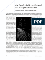 Experimental Results of Robust Lateral control of highway vehicles