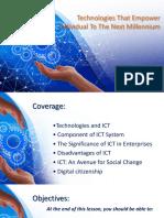 Report on Technologies