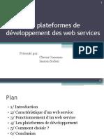 les plateformes de veloppementdeswebservices