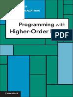 Cambridge University Press - Programming With Higher Oder Logic 2012