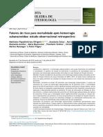Fatores de risco para mortalidade após hemorragia subaracnoidea