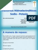 Trastornos de Sodio Potasio - GRUPO 2 TARDE.pptx