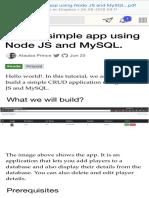 Build a Simple App Using Node JS and MySQL.