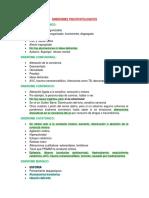 TEMA 5 SINDROMES PSICOPATOLOGICOS