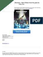 Undertale Piano Collection E Book Download