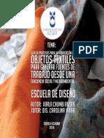 Guia de procesos para la fabricacion de objetos textiles