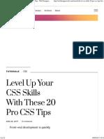 20 Pro CSS Tips